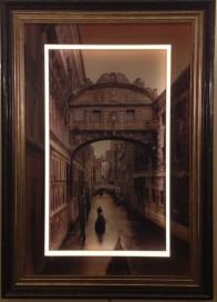 Illuminated picture frame