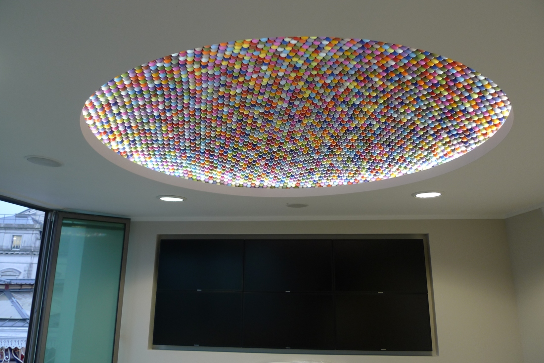 Ping pong ceiling