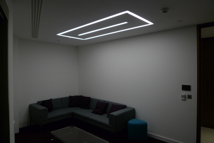 Continuous recessed LED profile