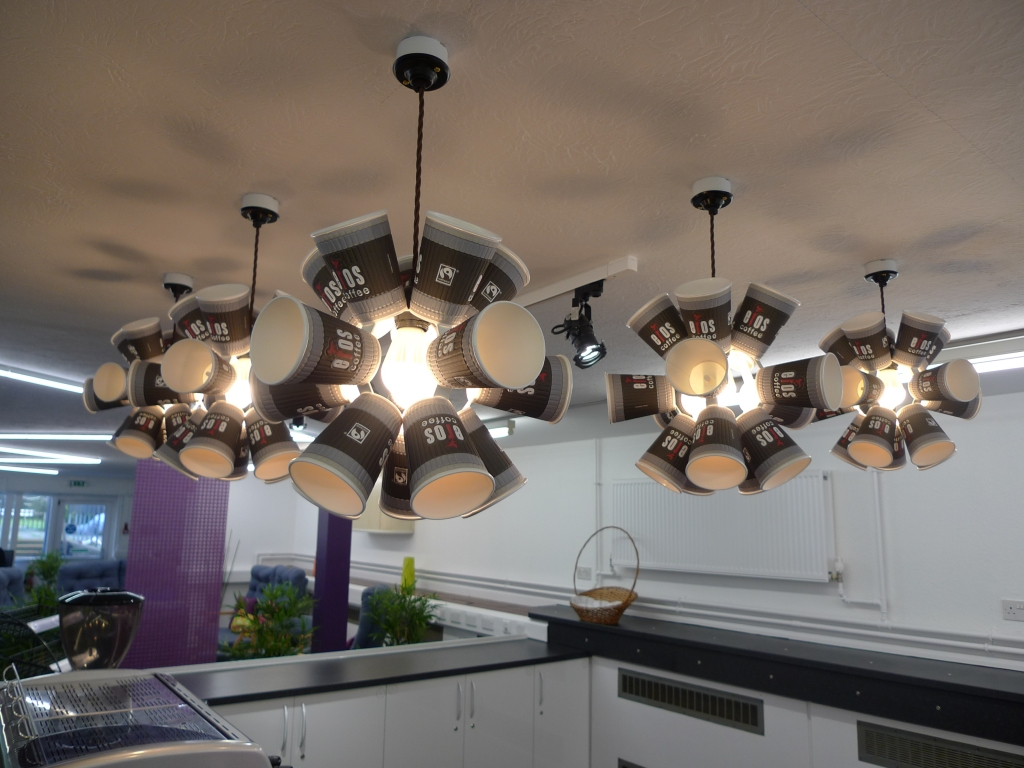 Moth Lighting - Coffee cup pendants