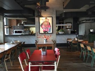Restaurant and kitchen pass ambient lighting