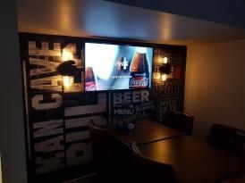 Dug out wall lights