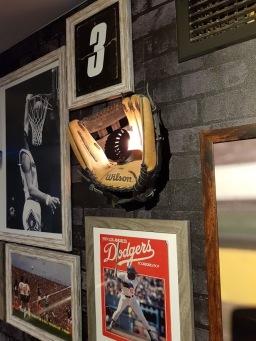 Boxing glove wall light